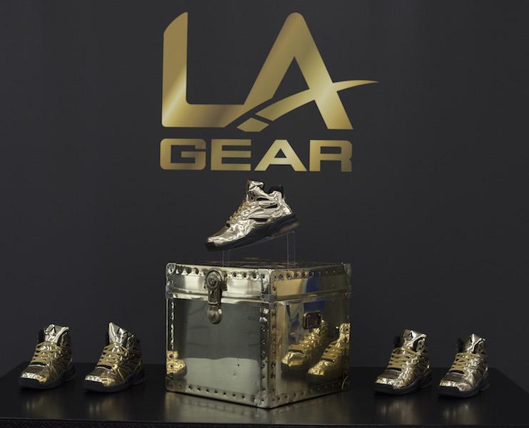 L.A. Gear And TYGA Present The Liquid Gold Shoe