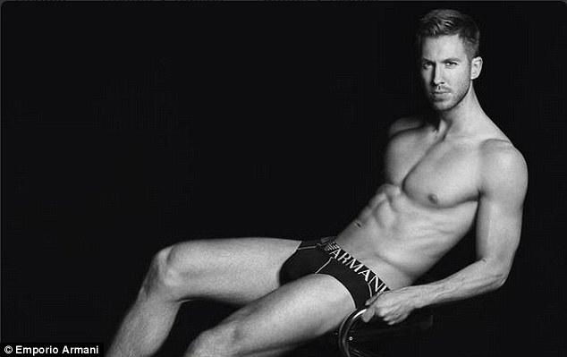 Calvin Harris poses for Emporio Armani Campaign