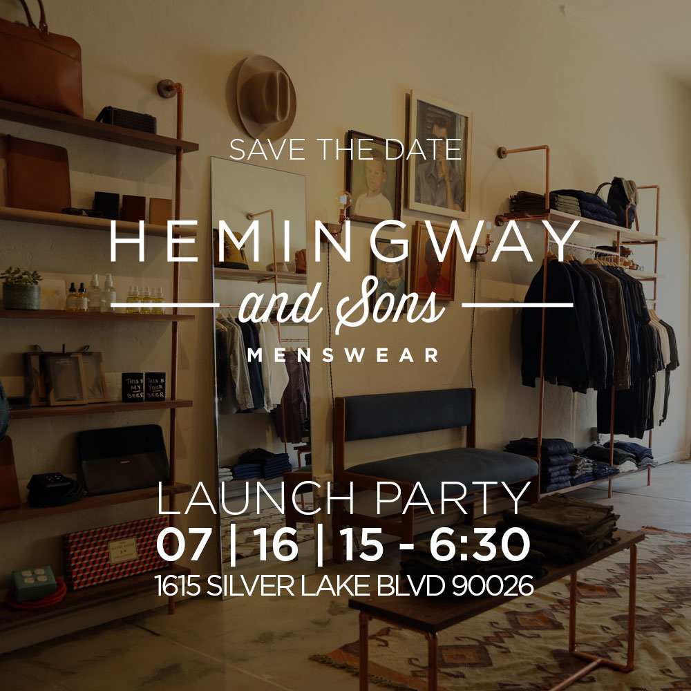 New Silver Lake Mens' Store Launch