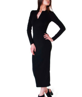 elegant-fitted-black-dress-131152433717477030