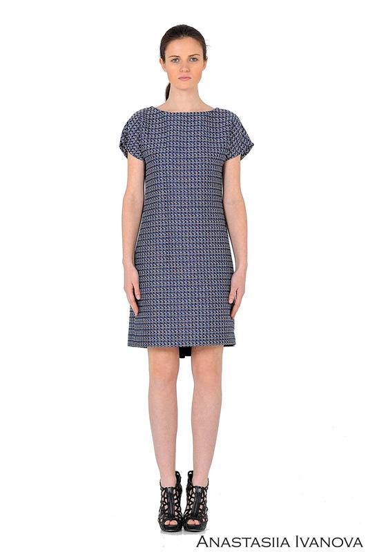 short-sleeve-melange-blue-dress-131158340780999050