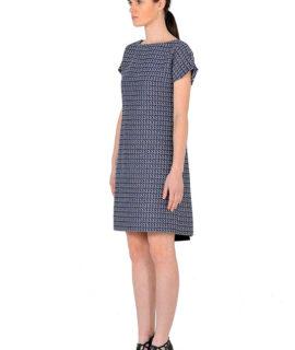 short-sleeve-melange-blue-dress-131158340822576012