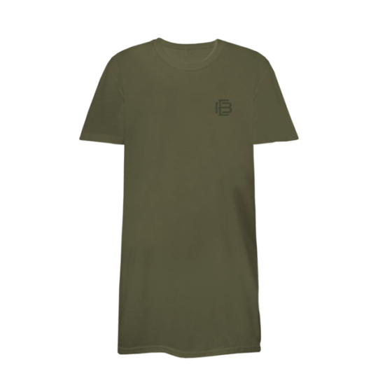 Elongated Tee in Olive C - ericbellinger.com