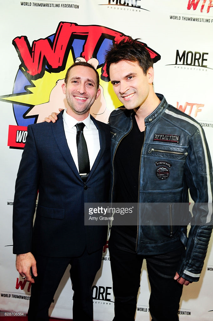 Steve Sirkis (WTF - Producer) and Kash Hovey (WTF - Actor) C - Amy Graves