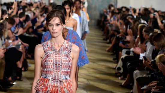 NEW YORK, NY - SEPTEMBER 15: Models walk the runway wearing Tory Burch Spring 2016 at Avery Fisher Hall at Lincoln Center for the Performing Arts on September 15, 2015 in New York City. (Photo by Slaven Vlasic/Getty Images for Tory Burch)