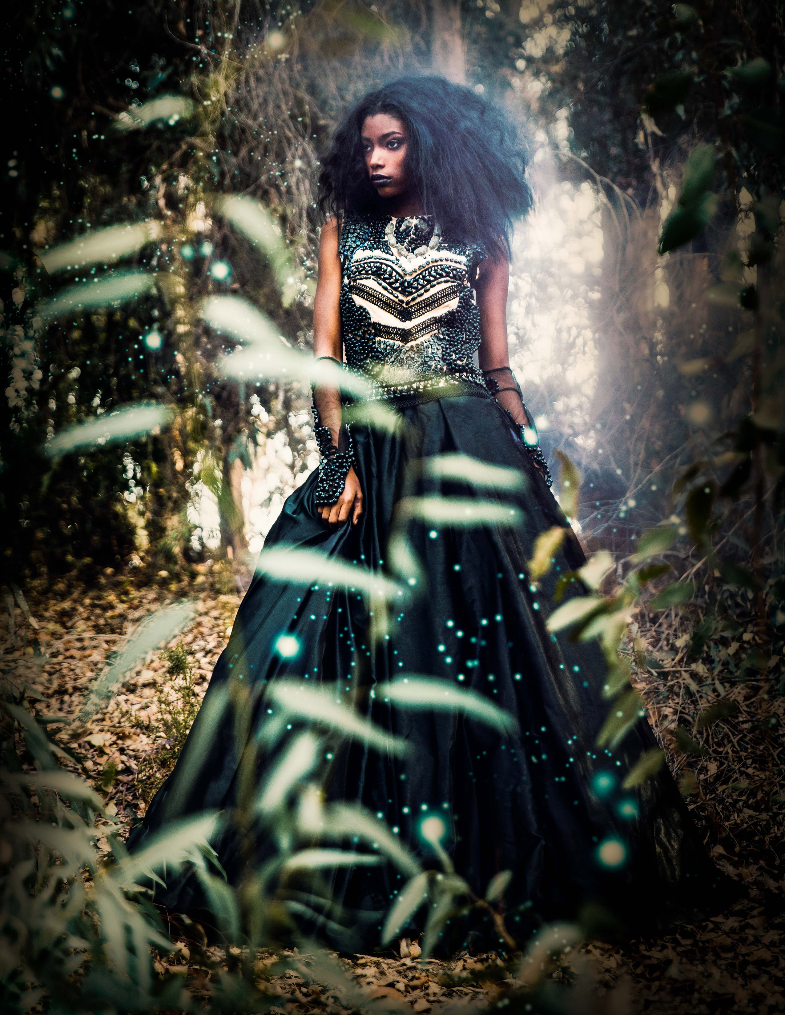 The costume is inspired by the victorian era fashion and the decorations are made from jelly beans.  Photography by Pavlina Popovska    Make up by: Toni Scott                    Vanessa Vasquez  Hair: Toni Scott  Designer: Delise' Ana  Model: Nautica Lisbey
