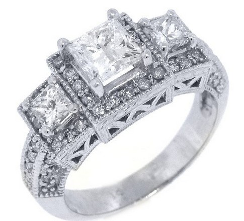 14k-White-Gold-Princess-Cut-Past-Present-Future-3-Stone-Diamond-Ring-2.24-Carats