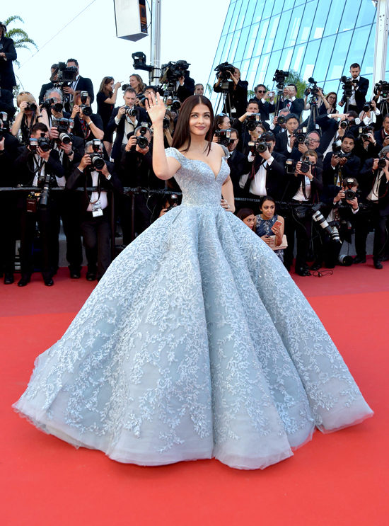 Aishwarya Rai Bachchan in Michael Cinco Credit: Tom + Lorenzo