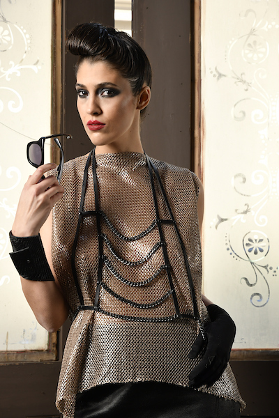 TOP: Provocative Leather Chains: PLIK Bracelet: PLIK Model: Anna