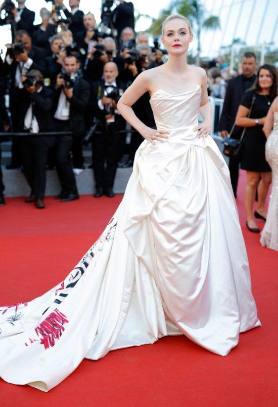 Elle Fanning in Vivienne Westwood Credit: Glamour Magazine