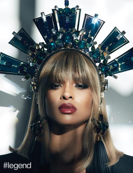Singer Ciara wearing Bjorn van den Berg crown