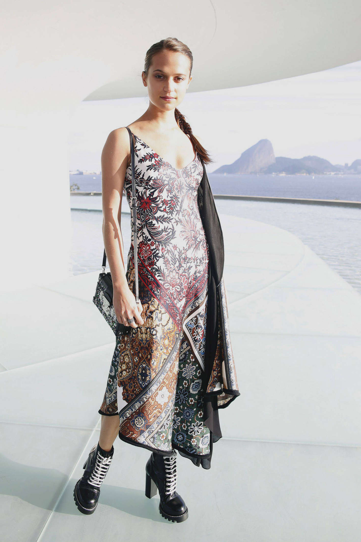 Alicia Vikander in Louis Vuitton Credit: Jayne Mountford
