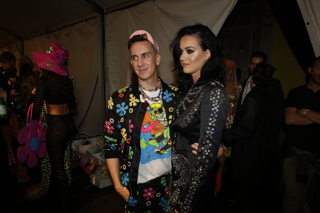 Katy Perry with Jeremy Scott Credit: The Cobra Snake