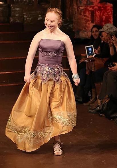 Madeline Stuart at NYFW Credit: madelinesmodelling