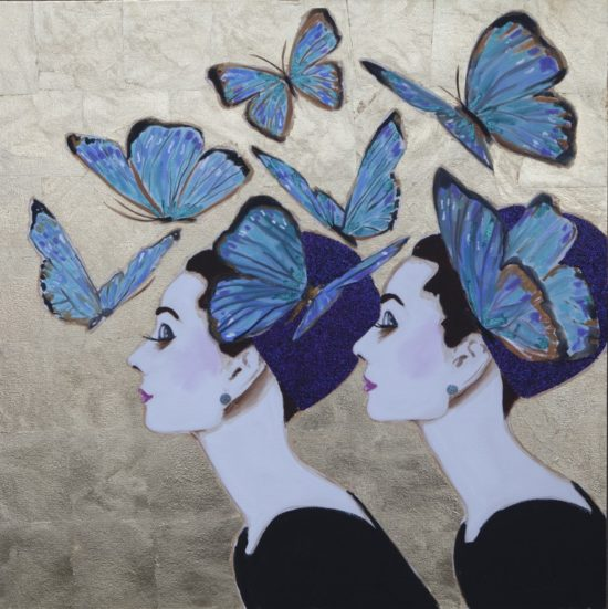 Audrey with Duet Butterflies